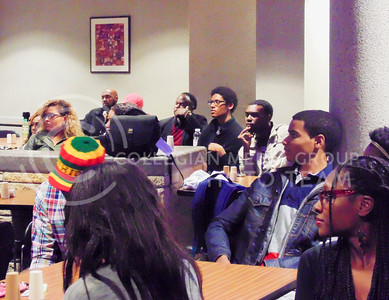 Black Student Union members listen to what their fellow members have to say at the event called Our Story: Kings and Queens on Nov. 10, 2015, in the North Dining Center in the Student Union. (Jessica Robbins | The Collegian)