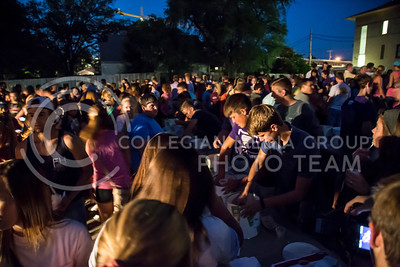 Farmhouse and Sigma Alpha Epsilon Fraternity held their Welcome Back Block Party on Aug. 24. Ice cream was served at 8:30 p.m. with live music starting at 9:00 p.m. (Nathan Jones | The Collegian)