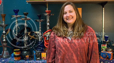Megan Springer, Manhattan resident and manager of The Wild Side, says hookah has become more popluar among young people on Feb. 4, 2016. (Miranda Snyder | The Collegian)