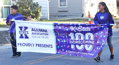 The annual K-State Homecoming Parade took place along a route that started in the Manhattan Town Square and ended in Aggieville on Oct. 16, 2015. (Miranda Snyder | The Collegian)