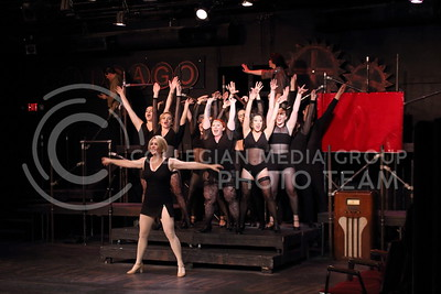 The cast of the Chicago musical perform  their opening number at the Manhattan Arts Center on April 24, 2016. (Miranda Snyder | The Collegian)