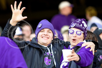 K-State students show their enthusiasm prior to the K-State Alumni Center Liberty Bowl Pep Rally in AutoZone Park in Memphis, Tennesse, January 1, 2016. (Parker Robb | The Collegian)