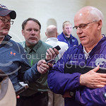 Defensive Coordinator Tom Hayes talks with the media during an AutoZone Liberty Bowl press conference December 31, 2015, in Memphis, Tennessee. (Parker Robb | The Collegian)
