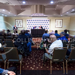 K-State Defensive Coordinator Tom Hayes and Associate Head Coach and Special Teams Coordinator Sean Snyder answer questions during an AutoZone Liberty Bowl press conference December 31, 2015 ...