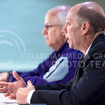 K-State Associate Head Coach and Special Teams Coordinator Sean Snyder answers questions during an AutoZone Liberty Bowl press conference December 31, 2015, in Memphis, Tennessee. (Parker Ro ...