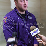 Senior defensive tackle Travis Britz converses with the media during an AutoZone Liberty Bowl press conference December 31, 2015, in Memphis, Tennessee. (Parker Robb | The Collegian)