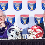 K-State Defensive Coordinator Tom Hayes, left, and Associate Head Coach and Special Teams Coordinator Sean Snyder answer questions during an AutoZone Liberty Bowl press conference December 3 ...