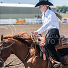 Sophomore western Brynn Critcher rides Cowboy during Reining against OSU on Oct. 9, 2015 at Timbercreek Stables in Manhattan.  Critcher claimed her first title against OSU's Julia Purus.  (Rodney Dimick | The Collegian)