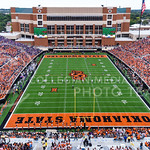 Kansas State kicks off following their touchdown late in the second quarter of their heartbreaking 34-36 loss to No. 20-ranked Oklahoma State Oct. 3, 2015, in Boone Pickens Stadium in Stillw ...