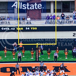 Senior kicker Jack Cantele (3) nails an extra point following a K-State touchdown after an Oklahoma State fumble to put the Wildcats up 28-13 in the second quarter of K-State's heartbreaking ...