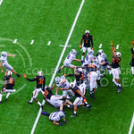 Oklahoma State defenders attempt to block K-State senior kicker Jack Cantele's (3) field goal, which he missed, as the Wildcats try to extend their 28-20 lead with 8 seconds remaining in the ...