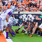 The Oklahoma State offensive line lines up to score a touchdown to cut the Wildcats' lead to 28-26 in the third quarter of the Wildcats' heartbreaking 34-36 loss to No. 20-ranked Oklahoma St ...