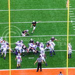 Oklahoma State kicker Ben Grogan kicks the extra point following Oklahoma State's late first half touchdown as the Cowboys slowly claw their way back into the game right before halftime of t ...