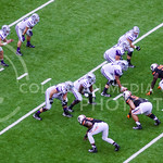 The Wildcat offense lines up opposite the Cowboy defense for the next play in the second quarter of K-State's heartbreaking 34-36 loss to No. 20-ranked Oklahoma State Oct. 3, 2015, in Boone  ...