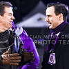 Kansas Governor Sam Brownback (left) chats with K-State Athletic Director John Currie on the sideline of Kivisto Field during the fourth quarter of the Sunflower Showdown Nov. 28, 2015, in Memorial Stadium in Lawrence, Kansas. (Parker Robb | The Collegian)
