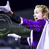 Marching Band Drum Major Abby Thompson directs the Pride of Wildcat Land during a media timeout in the fourth quarter of the Wildcats' 24-31 loss to the No. 2 Bears Nov. 5, 2015, in Bill Snyder Family Stadium. (Parker Robb | The Collegian)
