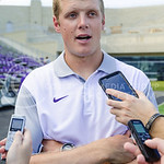 Former quarterback and Heisman Trophy finalist turned Offensive Assistant Coach Collin Klein tells about his current role and responsibilities on the team at K-State Football's media day Aug ...
