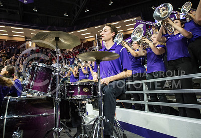 The K-State pep band plays before the game against Coppin State on Dec. 9, 2015 at Bramlage Coliseum.  (Rodney Dimick | The Collegian)