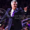 Head coach Bruce Weber points for a player to come in off the bench in the second half of the Wildcats' 69-64 win over the Rebels in the teams' Big 12-SEC Challenge game Jan. 30, 2016, in Bramlage Coliseum. (Parker Robb | The Collegian)