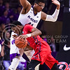 Ole Miss guard Donte Fitzpatrick-Dorsey plows into senior forward Stephen Hurt in the second half of the Wildcats' 69-64 win over the Rebels in the teams' Big 12-SEC Challenge game Jan. 30, 2016, in Bramlage Coliseum. (Parker Robb | The Collegian)