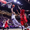 Senior forward Justin Edwards lunges toward the basket past several Ole Miss defenders in the second half of the Wildcats' 69-64 win over the Rebels in the teams' Big 12-SEC Challenge game Jan. 30, 2016, in Bramlage Coliseum. (Parker Robb | The Collegian)