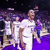 Freshman guard Barry Brown lets out his excitement after upending No. 1 Oklahoma 80-69 in Bramlage Coliseum Feb. 6, 2016. (Parker Robb | The Collegian)