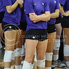 Junior middle blocker Katie Reininger concentrates before the game against Green Bay on Sept. 4, 2015 in Bramlage Coliseum.  The volleybaall team beat Green Bay 3-0.  (Rodney Dimick | The Collegian)