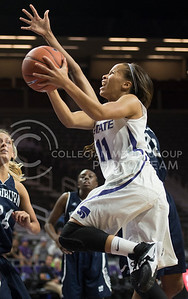 Senior guard Antoinette Taylor surges for the basket in the game against WU on Nov. 2, 2015 at Bramlage Coliseum.  Taylor made 100% of her shots in this game.  (Rodney Dimick   The Collegian)