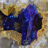 Grand Reef mine linarite, about 1.5mm tall.