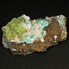 79 Mine - Aurichalcite on Smithsonite, 6cm across<br /> purchased at 2012 TGMS show