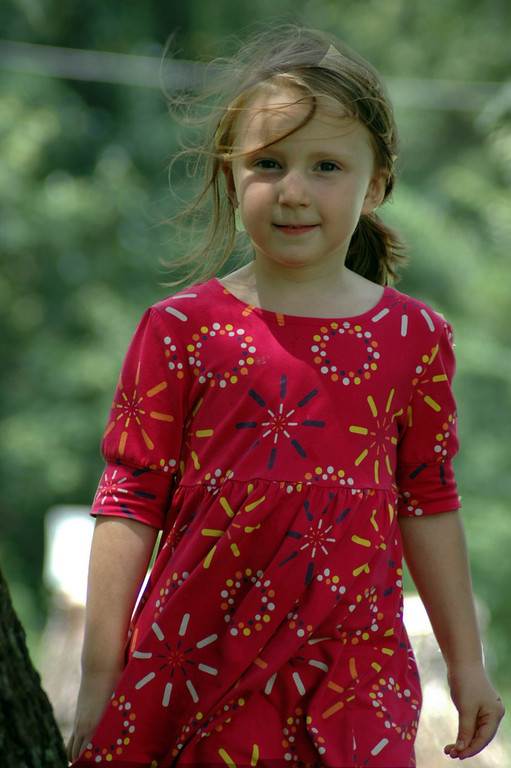 Girl In A Red Dress - July, 2010