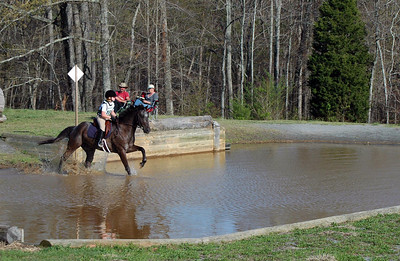 The Water Jump, FENCE Horse Trials, April 2009