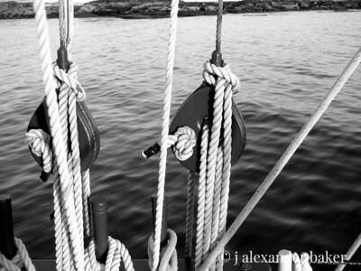 Blocks and rigging, Schooner Eastwind, Boothbay Harbor, ME