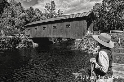 Gazing on the Covered Bridge, Arlington, VT