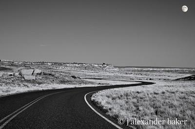 Desert Highway with Moon, Arizona 1