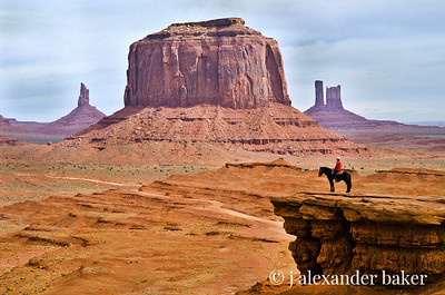 Mounted Navajo, Monument Valley