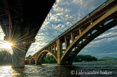 HDR bridges with sun dogs and flair