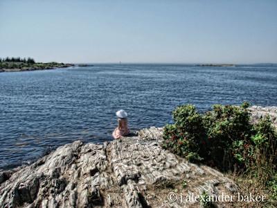 She Waits by the Sea - soft blur