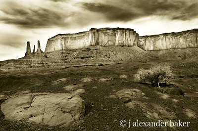 The Three Sister, Monument Valley, Navajo Nation, Utah
