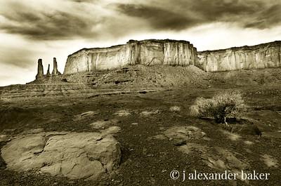 The Three Sister, Monument Valley, Navajo Nation, Utah