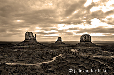 The Mittens, Monument Valley, Navajo Nation, Utah