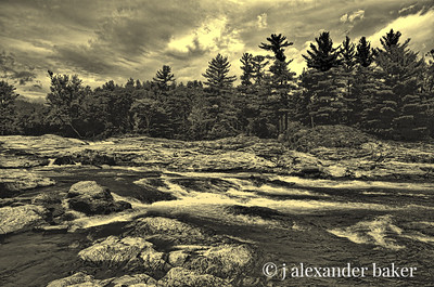 AuSable River at Jay New York, Adirondack Mountains