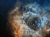 NGC 2244 open cluster inside of Rosette Nebula