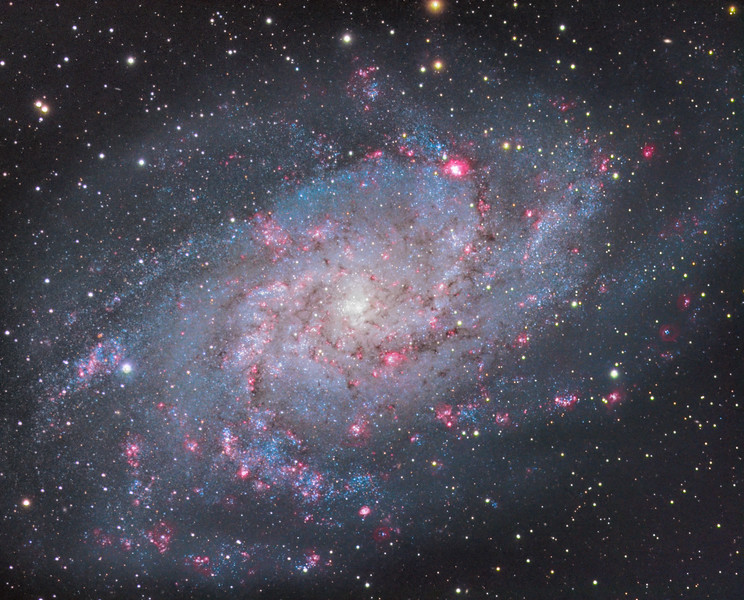 M33 Triangulum galaxy enhanced with Hydrogen Alpha