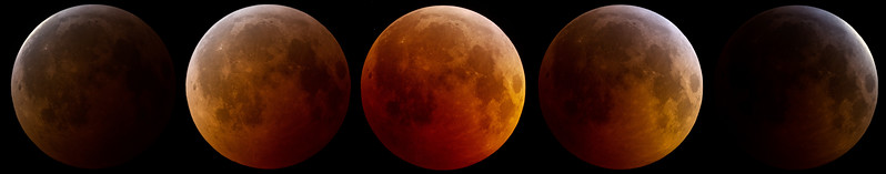 """Lunar eclipse series December 2010 from Portal, AZ. Shot with Canon 1D MKIV and Orion 10"""" RC scope on a Losmandy G11 mount"""