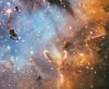 NGC 281 Pac Man Nebula SHO Hubble Palette detail