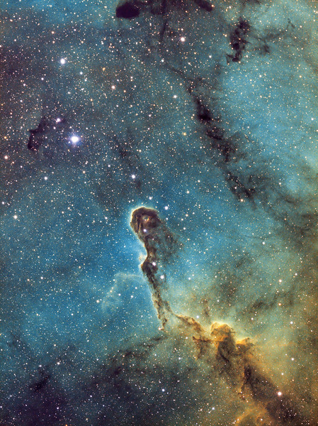 IC 1396 Elephant Trunk Nebula SHO Hubble Palette