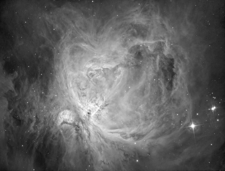 M42 Orion's Nebula - 1 night test in HA approx 1 hr integration time