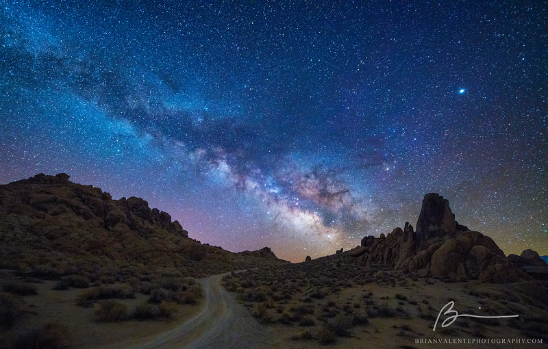 Milky way, Alabama Hills CA