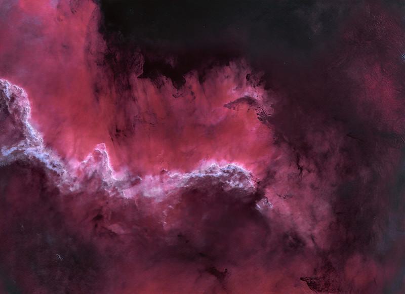 NGC 7000 North American Nebula in Ha and OIII